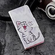 Недорогие Чехлы и кейсы для Galaxy S9-Кейс для Назначение SSamsung Galaxy S9 Plus / S9 Кошелек / Бумажник для карт / со стендом Чехол Кот Твердый Кожа PU для S9 / S9 Plus / S8 Plus