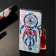 Недорогие Чехлы и кейсы для Galaxy А-Кейс для Назначение SSamsung Galaxy A6+ (2018) / A6 (2018) Кошелек / Бумажник для карт / со стендом Чехол Ловец снов Твердый Кожа PU для