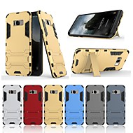 Недорогие Чехлы и кейсы для Galaxy S8-Кейс для Назначение SSamsung Galaxy S8 со стендом Кейс на заднюю панель Однотонный Твердый ПК для S8
