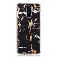 Недорогие Чехлы и кейсы для Galaxy A3(2017)-Кейс для Назначение SSamsung Galaxy A6+ (2018) / A6 (2018) Прозрачный / С узором Кейс на заднюю панель Мрамор Мягкий ТПУ для A6 (2018) / A6+ (2018) / A3 (2017)