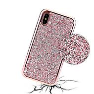 Недорогие Кейсы для iPhone 8-Кейс для Назначение Apple iPhone X / iPhone 8 Стразы / Покрытие Кейс на заднюю панель Сияние и блеск Твердый ПК для iPhone X / iPhone 8 Pluss / iPhone 8