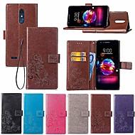 お買い得  携帯電話ケース-ケース 用途 LG LG Q7 / Q6 ウォレット / カードホルダー / スタンド付き フルボディーケース 曼荼羅 / バタフライ ハード PUレザー のために LG V30+ / LG V20 / LG K10 2018
