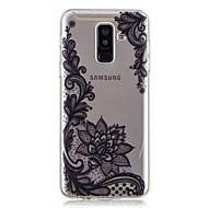 Недорогие Чехлы и кейсы для Galaxy A5(2017)-Кейс для Назначение SSamsung Galaxy A6+ (2018) / A6 (2018) Прозрачный / С узором Кейс на заднюю панель Цветы Мягкий ТПУ для A6 (2018) / A6+ (2018) / A3 (2017)