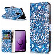 Недорогие Чехлы и кейсы для Galaxy S9-Кейс для Назначение SSamsung Galaxy S9 Plus / S9 Кошелек / Бумажник для карт / со стендом Чехол Мандала Твердый Кожа PU для S9 / S9 Plus / S8 Plus
