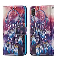 Недорогие Кейсы для iPhone 8 Plus-Кейс для Назначение Apple iPhone X / iPhone 8 Plus Кошелек / Бумажник для карт / со стендом Чехол Ловец снов Твердый Кожа PU для iPhone X / iPhone 8 Pluss / iPhone 8