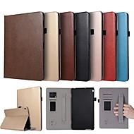 お買い得  携帯電話ケース-ケース 用途 Huawei MediaPad M3 Lite 10 カードホルダー / スタンド付き / 磁石バックル フルボディーケース ソリッド ハード PUレザー のために Huawei MediaPad M3 Lite 10