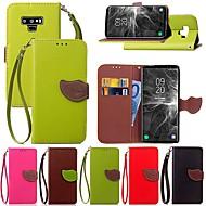 Недорогие Чехлы и кейсы для Galaxy Note-Кейс для Назначение SSamsung Galaxy Note 9 / Note 8 Бумажник для карт / со стендом / Флип Чехол Растения Твердый Кожа PU для Note 5 / Note 4 / Note 3