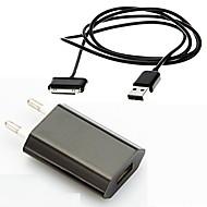 お買い得  iPod 用チャージャー-ポータブルチャージャー USB充電器 EUプラグ / USB ケーブル付き / マルチシュッ力 / QC 3.0 USBポート×2 2.1 A 100~240 V