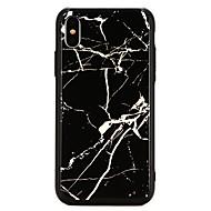 Недорогие Кейсы для iPhone 8-Кейс для Назначение Apple iPhone X Покрытие Кейс на заднюю панель Мрамор Твердый Закаленное стекло для iPhone X / iPhone 8 Pluss / iPhone 8