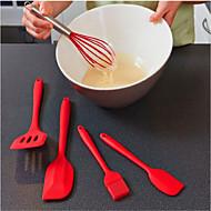 お買い得  キッチン用小物-5本のシリコンペストリーの料理のベーキングセットキッチンDIYの調理ツールのペストリーオイル器具の穿孔ブラシのスパチュラ