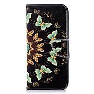 Недорогие Чехлы и кейсы для Galaxy S9 Plus-Кейс для Назначение SSamsung Galaxy S9 Plus / S8 Plus Кошелек / Бумажник для карт / со стендом Чехол Бабочка Твердый Кожа PU для S9 / S9 Plus / S8 Plus