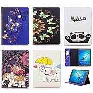 Недорогие Чехлы и кейсы для Samsung Tab-Кейс для Назначение SSamsung Galaxy Tab S2 9.7 Кошелек / Бумажник для карт / со стендом Чехол Слон Твердый Кожа PU для Tab S2 9.7