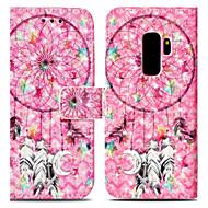 Недорогие Чехлы и кейсы для Galaxy S9 Plus-Кейс для Назначение SSamsung Galaxy S9 Plus / S9 Кошелек / Бумажник для карт / со стендом Чехол Ловец снов / Цветы Твердый Кожа PU для S9 / S9 Plus / S8 Plus