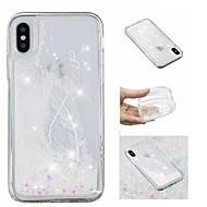 Недорогие Кейсы для iPhone 8 Plus-Кейс для Назначение Apple iPhone X / iPhone 8 Plus Движущаяся жидкость / С узором / Сияние и блеск Кейс на заднюю панель Перья / Сияние и блеск Мягкий ТПУ для iPhone X / iPhone 8 Pluss / iPhone 8