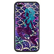 Недорогие Кейсы для iPhone 8 Plus-Кейс для Назначение Apple iPhone X / iPhone 8 Plus Зеркальная поверхность / С узором Кейс на заднюю панель Мультипликация Твердый Закаленное стекло для iPhone X / iPhone 8 Pluss / iPhone 8
