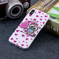 Недорогие Кейсы для iPhone 8 Plus-Кейс для Назначение Apple iPhone X / iPhone 8 Plus IMD / С узором Кейс на заднюю панель С сердцем / Сова Мягкий ТПУ для iPhone X / iPhone 8 Pluss / iPhone 8
