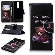preiswerte Handyhüllen-Hülle Für Nokia Nokia 5.1 / Nokia 3.1 Geldbeutel / Kreditkartenfächer / mit Halterung Ganzkörper-Gehäuse Wort / Satz Hart PU-Leder für Nokia 8 / Nokia 6 / Nokia 6 2018