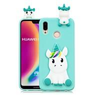 お買い得  携帯電話ケース-ケース 用途 Huawei P20 Pro / P20 lite DIY バックカバー ユニコーン ソフト TPU のために Huawei P20 / Huawei P20 Pro / Huawei P20 lite