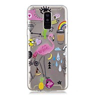 Case For Samsung Galaxy A6+ (2018) / A6 (2018) Transparent / Pattern Back Cover Flamingo Soft TPU for A6 (2018) / A6+ (2018) / A3(2017)