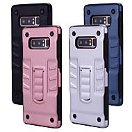 Недорогие Чехлы и кейсы для Galaxy S-Кейс для Назначение SSamsung Galaxy S8 со стендом Кейс на заднюю панель Однотонный Твердый ПК для S8