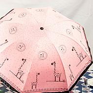 Недорогие Защита от дождя-пластик / Нержавеющая сталь Жен. / Все Новый дизайн Складные зонты
