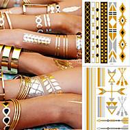 abordables Tatuajes Temporales-5 pcs Tatuajes Adhesivos Los tatuajes temporales pulsera Diseños de Moda / Decoración Artes de cuerpo brazo / tobillo / Pegatina tatuaje