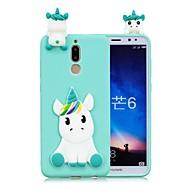 お買い得  携帯電話ケース-ケース 用途 Huawei Mate 10 lite / Mate 10 DIY バックカバー ユニコーン ソフト TPU のために Mate 10 / Mate 10 lite