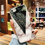Недорогие Кейсы для iPhone 8 Plus-Кейс для Назначение Apple iPhone X / iPhone 8 Plus IMD / С узором Кейс на заднюю панель дерево / Мрамор Мягкий ТПУ для iPhone X / iPhone 8 Pluss / iPhone 8