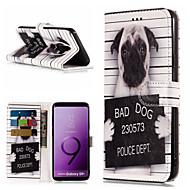 Недорогие Чехлы и кейсы для Galaxy S9-Кейс для Назначение SSamsung Galaxy S9 Plus / S9 Кошелек / Бумажник для карт / со стендом Чехол С собакой / Слова / выражения Твердый Кожа PU для S9 / S9 Plus / S8 Plus