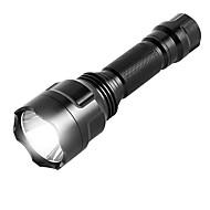 お買い得  フラッシュライト/ランタン/ライト-ismartdigi i-8T6 LED Flashlight LED懐中電灯 パータブル / 防滑り キャンプ / ハイキング / ケイビング / 日常使用 / 狩猟 ブラック