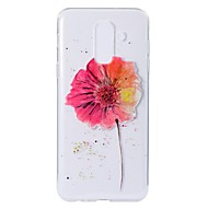 Недорогие Чехлы и кейсы для Galaxy A3(2016)-Кейс для Назначение SSamsung Galaxy A9 Star / A6+ (2018) С узором Кейс на заднюю панель Цветы Мягкий ТПУ для A5(2018) / A6 (2018) / A6+ (2018)