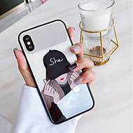 Недорогие Кейсы для iPhone 8 Plus-Кейс для Назначение Apple iPhone X С узором Кейс на заднюю панель Панк Твердый Закаленное стекло для iPhone X / iPhone 8 Pluss / iPhone 8