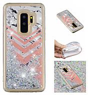 Недорогие Чехлы и кейсы для Galaxy S7 Edge-Кейс для Назначение SSamsung Galaxy S9 Plus / S9 Движущаяся жидкость / С узором / Сияние и блеск Кейс на заднюю панель Сияние и блеск / Мрамор Мягкий ТПУ для S9 / S9 Plus / S8 Plus