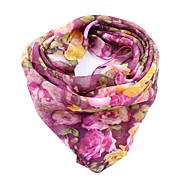 cheap Scarves & Wraps-Women's Holiday Square - Floral Bow