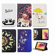 Недорогие Чехлы и кейсы для Samsung Tab-Кейс для Назначение SSamsung Galaxy Tab A 8.0 (2017) Кошелек / Бумажник для карт / со стендом Чехол Слон Твердый Кожа PU для Tab A 8.0 (2017)