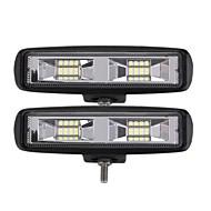 Недорогие Внешние огни для авто-2pcs Автомобиль Лампы 24 W Интегрированный LED 2400 lm 16 Светодиодная лампа Внешние осветительные приборы For Универсальный 2018