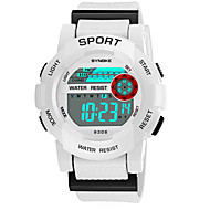 cheap Jewelry & Watches-SYNOKE Men's Women's Sport Watch Digital Watch Digital 50 m Water Resistant / Water Proof Calendar / date / day Chronograph PU Band Digital Fashion Black / White / Pink - Yellow Pink Light Blue