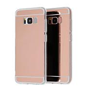 Недорогие Чехлы и кейсы для Galaxy S7 Edge-Кейс для Назначение SSamsung Galaxy S9 Plus / S8 Plus Покрытие / Зеркальная поверхность / Ультратонкий Кейс на заднюю панель Однотонный Твердый Акрил для S9 / S9 Plus / S8 Plus