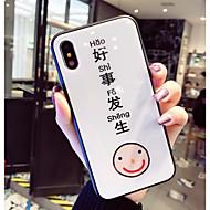 Недорогие Кейсы для iPhone 8-Кейс для Назначение Apple iPhone X / iPhone 8 С узором Кейс на заднюю панель Слова / выражения Твердый Закаленное стекло для iPhone X / iPhone 8 Pluss / iPhone 8