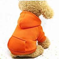Hunde Katte Kæledyr Hættetrøjer Sweatshirt Dragter Hundetøj Ensfarvet Kaffe Rød Lys pink Bomuld Kostume Til Husky Labrador Alaskan malamutes Alle årstider Dame Sport og udendørs Vindtæt Afslappet