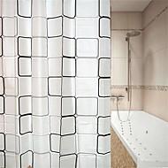 お買い得  浴室用小物-シャワーカーテン&フック 近代の PEVA 幾何学模様 / 幾何学的な 機械製 防水 / 新デザイン 浴室