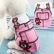 cheap Pet Supplies-Soft Cotton Dog Vest False Straps Pet Clothes Cute Cartoon Puppy Costume