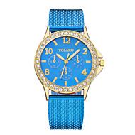 cheap -Women's Wrist Watch Chinese Casual Watch Plastic Band Fashion / Minimalist Black / White / Blue