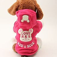 abordables Accesorios para Hogar y Mascotas-Perros / Gatos Abrigos / Mono Ropa para Perro Palabra / Frase / Personajes Rosa Tejido Disfraz Para mascotas Mujer Ocasional / deportivo