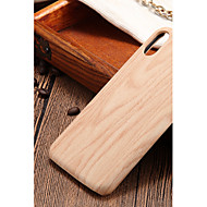 Недорогие Кейсы для iPhone 8 Plus-Кейс для Назначение Apple iPhone X / iPhone 8 Ультратонкий Кейс на заднюю панель Имитация дерева Твердый ПК для iPhone X / iPhone 8 Pluss / iPhone 8
