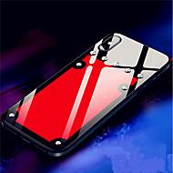 Недорогие Кейсы для iPhone 8 Plus-Кейс для Назначение Apple iPhone X / iPhone 8 Защита от удара / Зеркальная поверхность Кейс на заднюю панель Однотонный Твердый Закаленное стекло для iPhone X / iPhone 8 Pluss / iPhone 8