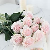abordables Flores Artificiales-Flores Artificiales 5 Rama Clásico / Sencilla Elegante / Estilo Pastoral Rosas Flor de Mesa