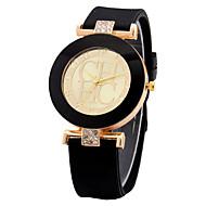 abordables Relojes Deportivos-Hombre / Mujer Reloj Deportivo / Reloj de Pulsera Chino Reloj Casual Silicona Banda Casual Rosa / Acero Inoxidable