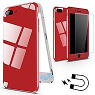 Недорогие Кейсы для iPhone 8-Кейс для Назначение Apple iPhone X / iPhone 8 Защита от удара / Магнитный Чехол Однотонный Твердый Металл для iPhone X / iPhone 8 Pluss / iPhone 8