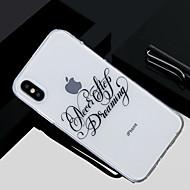 Недорогие Кейсы для iPhone 8-Кейс для Назначение Apple iPhone X / iPhone 8 Прозрачный / Полупрозрачный / С узором Кейс на заднюю панель Слова / выражения Мягкий ТПУ для iPhone X / iPhone 8 Pluss / iPhone 8